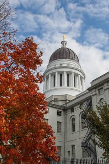 Maine State capital building, Augusta, Maine.